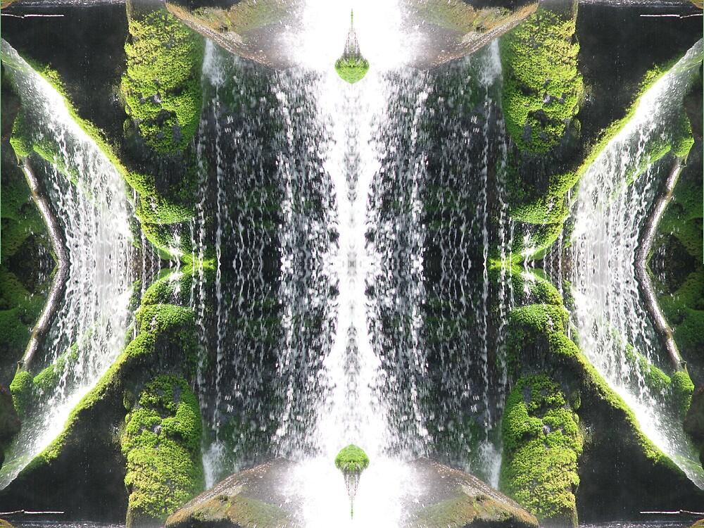 Green Water Fall by Warren Crawford