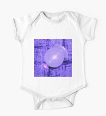 Abstract space fractal in purple One Piece - Short Sleeve