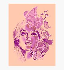 Butterfly Girl Pepe Psyche Photographic Print