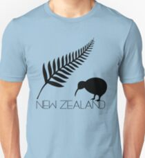 New Zealand Fern & Kiwi Icons Unisex T-Shirt