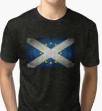 EU/Scotland Flag Tri-blend T-Shirt