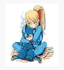 Megaman & Samus Photographic Print
