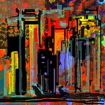 Busy Saturday Night Abstract Art Design by Jessielee72