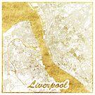 Liverpool Karte Gold von HubertRoguski