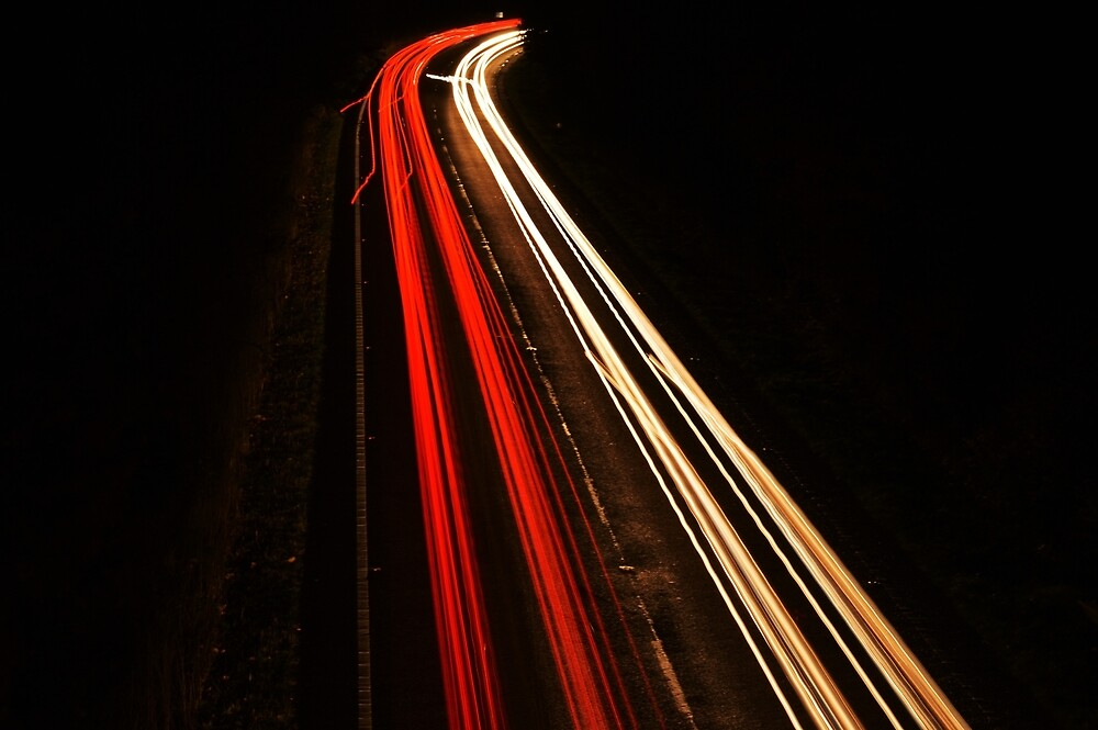 Long exposure cars by scrapula