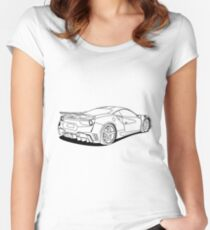 cool car Women's Fitted Scoop T-Shirt