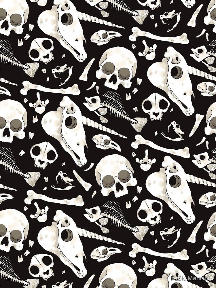 Cráneos y Huesos negros - Wunderkammer de fabiomancini
