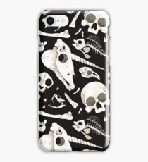 black Skulls and Bones - Wunderkammer iPhone Case/Skin