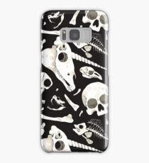 black Skulls and Bones - Wunderkammer Samsung Galaxy Case/Skin