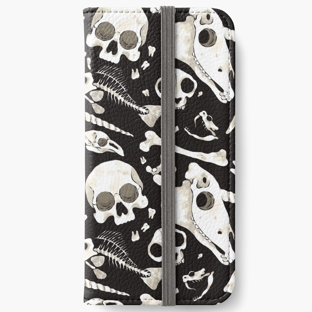 black Skulls and Bones - Wunderkammer iPhone Wallet