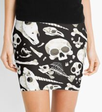 black Skulls and Bones - Wunderkammer Mini Skirt