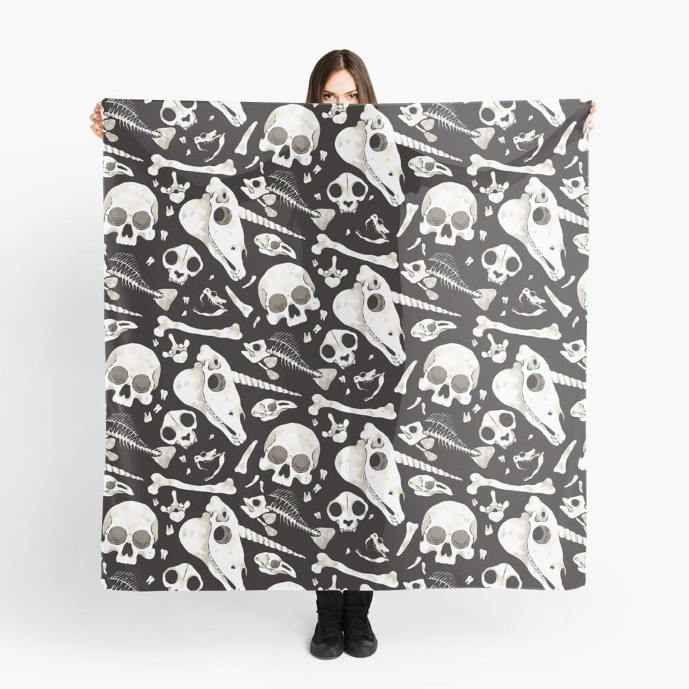black Skulls and Bones - Wunderkammer Scarf