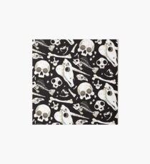 black Skulls and Bones - Wunderkammer Art Board