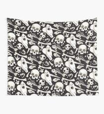 black Skulls and Bones - Wunderkammer Wall Tapestry