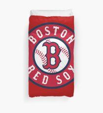 Boston Red Sox alternate logo red Duvet Cover