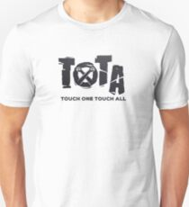 Touch One Touch All black hands  Unisex T-Shirt