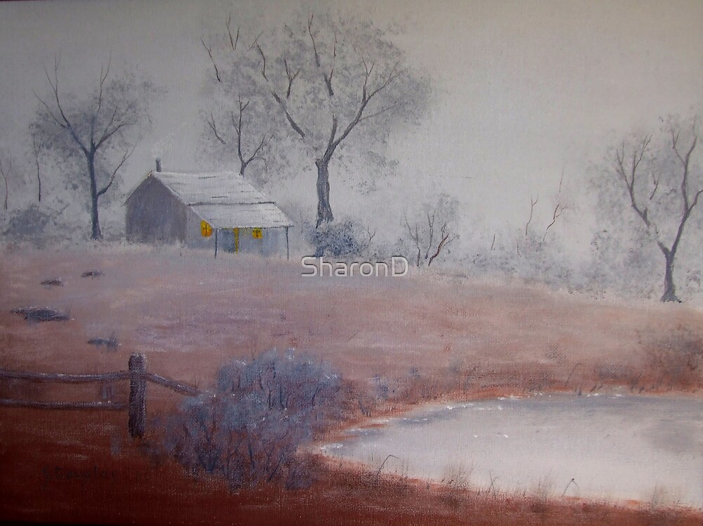 One Foggy Morn-Painting by SharonD