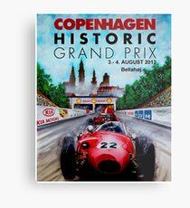 COPENHAGEN HISTORIC: Grand Prix Auto Advertising Print Metal Print