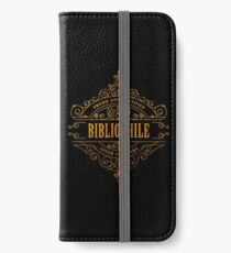 Gold Bibliophile - black iPhone Wallet/Case/Skin