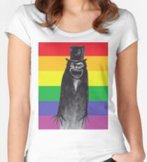 Gay Pride Babadook Women's Fitted Scoop T-Shirt
