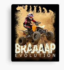 Motocross ATV Quad Bike BRAP Evolution Canvas Print