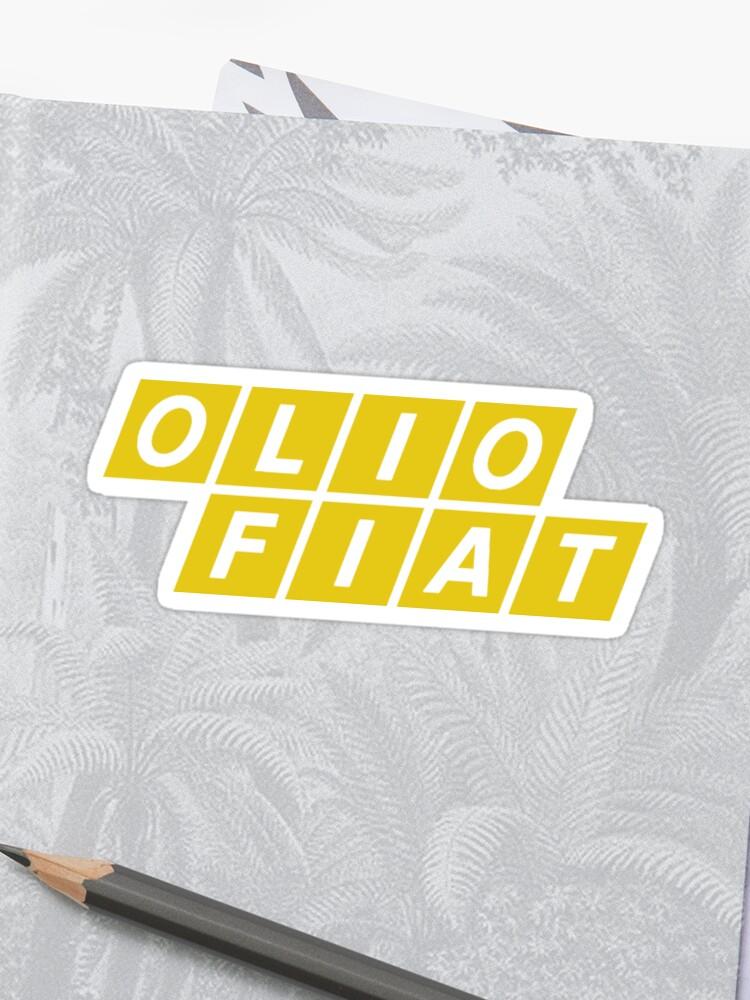 Olio Fiat Yellow Sticker