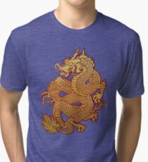 DRAGÓN DORADO Tri-blend T-Shirt