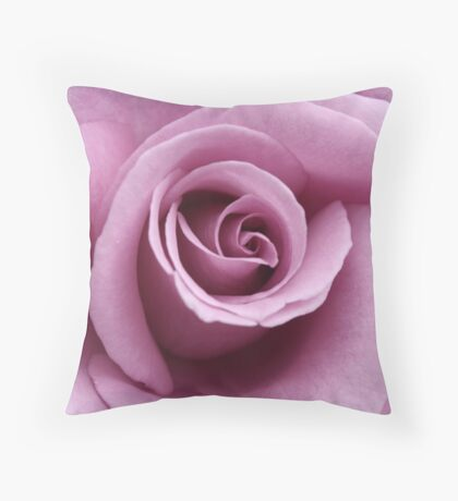 lilac rose Throw Pillow