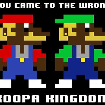 Gangsta Mario and Luigi wrong koopa kingdom by tiagonogueira