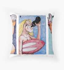 One Long Drink Throw Pillow