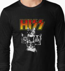 Hiss Kiss Cats Kittens Rock Long Sleeve T-Shirt
