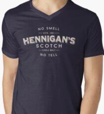 Hennigans Scotch T-Shirt mit V-Ausschnitt