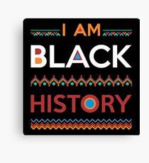 Ich bin schwarze Geschichte Leinwanddruck