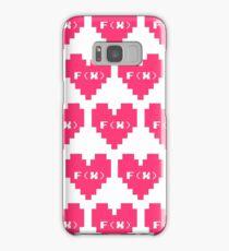 F(x) 8 bit heart logo Samsung Galaxy Case/Skin