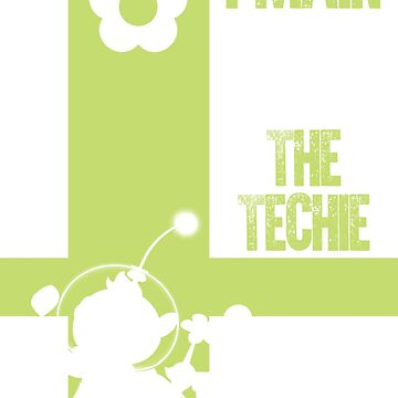 The Techie (White) by sm4shshorts