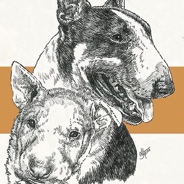 Bull Terrier Father & Son by BarbBarcikKeith