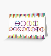 Holika festival vector lettering in color transition trend Greeting Card