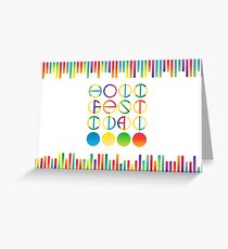 Holi festival vector lettering in color transition trend Greeting Card