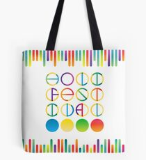 Holi festival vector lettering in color transition trend Tote Bag