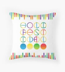 Holi festival vector lettering in color transition trend Throw Pillow