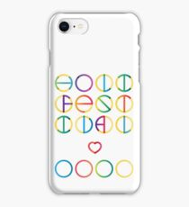 Holika festival vector lettering in color transition trend iPhone Case/Skin