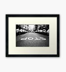 Backwards World Framed Print