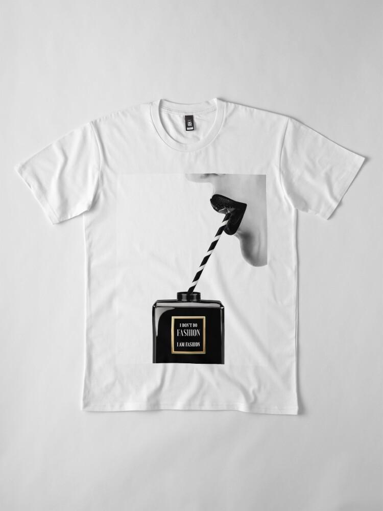Alternative Ansicht von Frau, Mädchen, Lippen drucken, Fashion Art, Modedruck, skandinavische Kunst, moderne Kunst, Wandkunst, Print, minimalistisch, Modern Premium T-Shirt