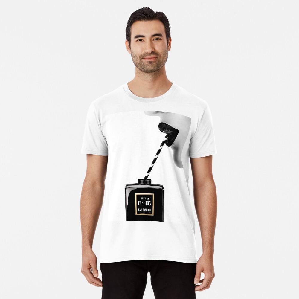 Frau, Mädchen, Lippen drucken, Fashion Art, Modedruck, skandinavische Kunst, moderne Kunst, Wandkunst, Print, minimalistisch, Modern Premium T-Shirt