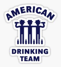 American Drinking Team (Booze / Beer / Alcohol / Navy) Sticker