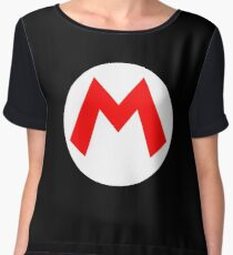 Super Mario Mario Icon Women's Chiffon Top