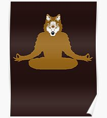 Canis Lupus Yoga Poster