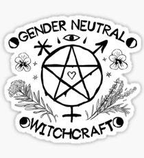 Gender Neutral Witchcraft (black) Sticker