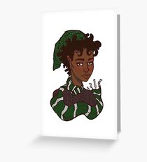 Magical Cunning Girl Greeting Card