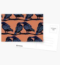 Orange Crows Postcards